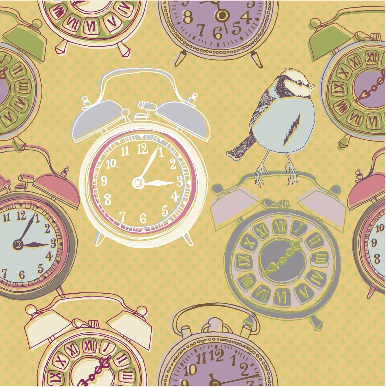 Image: ticking clocks
