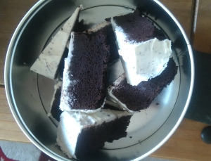 Cake in the tin to take to work!