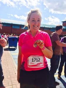 After Race for Life (5k) in 2014 - the furthest I have ever run in one stint.