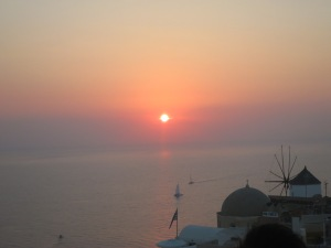 Sunset over Oia, Santorini, 2015.