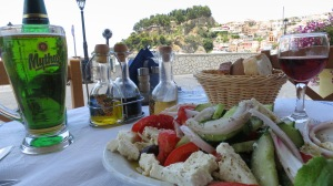 The view from lunch - Parga, Mainland Greece, 2013.